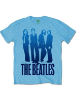Rock Off THE BEATLES Mens Iconic Image on Logo Light blue M