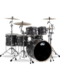 Dw (drum Workshop) Collector's Finish Ply Black Galaxy Chrome