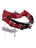 Rhythm Tech DST30 - Mountable Tambourine, Red, Steel Jingles