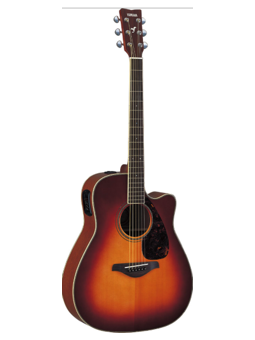 Yamaha FGX720SCII Brown Sunburst