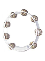 Rhythm Tech TC4020 - White Tambourine, Steel Jingles