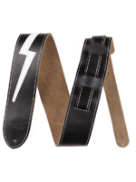 Fender Leather Lightning Bolt Strap Black
