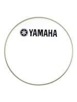 "Yamaha N77024035 - Pelle per grancassa da 22"" Smooth White con logo YAMAHA Nero - 22"" Smooth White bass drumhead w/YAMAHA Black Logo"