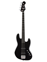 Squier Deluxe Jazz Bass IV Active Black