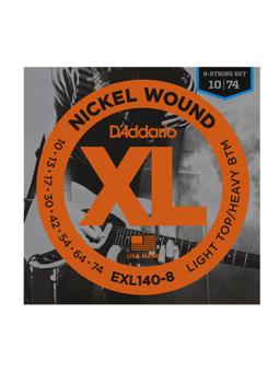 Daddario EXL140-8 Nickel Wound, 8-String, Light Top/Heavy Bottom