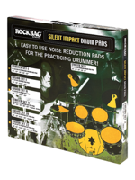 Rockbag RB22197B - Set di Silenziatori per Batteria - Silent Impact Pad Drum Set