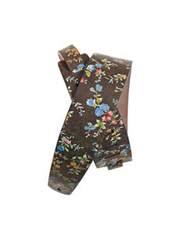 Planet Waves Distressed Floral Brown Strap