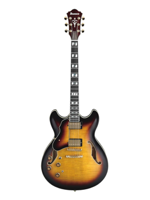 Ibanez AS153L Antique Yellow Sunburst Left Hand