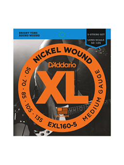 Daddario EXL160-5 Nickel