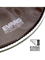 Evans BD20SCR - Retro Screen Front Bass Head Black 20