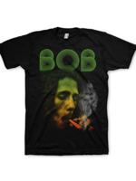 Rock Off BOB MARLEY smoking Da Erb Black Mens XL