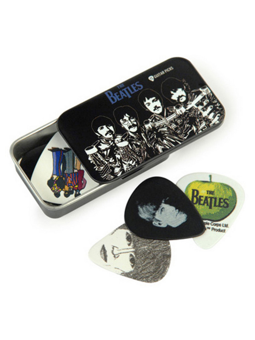 Daddario Beatles Signature Guitar Pick Tins, Sgt. Peppers, Medium