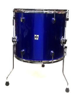 Ddrum d2 16 x14 floor tom in police blue used for 16 x 14 floor tom
