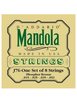 Daddario J76 Phosphor Bronze Mandola Strings