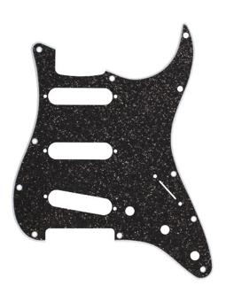 Fender Fender Strat Guitar Pickguard Black Glass Sparkle 4 Ply