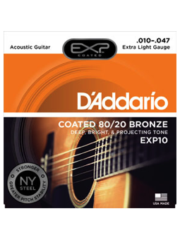 Daddario Exp10 Coated 80/20 Bronze
