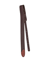 Fender 2'' F Custom HQ Leather Strap, Brown