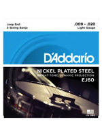 Daddario EJ60 5 String Plated Steel