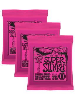 Ernie Ball 3223 Nickel Super Slinky 3-Pack