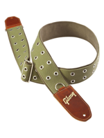 Gibson The Rivet 2 Wide Green Canvas with Poly Back.