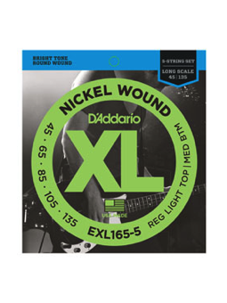 Daddario EXL165-5 Nickel Wound 5-String
