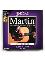 Martin 3 Pack Set M175 Custom Light 80/20 Bronze 11-52
