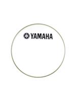 "Yamaha N77024033 - Pelle per grancassa da 18"" Smooth White con logo YAMAHA Nero - 18"" Smooth White bass drumhead w/YAMAHA Black Logo"