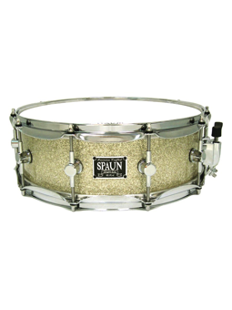 Spaun Drum Co. Maple 5x14 Snare Drum - Silver Glass