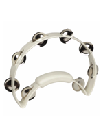 Rhythm Tech RT1220 - White Tambourine, Steel Jingles