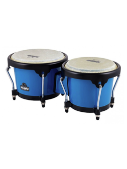 Nino NINO17B-BK Bongos Plus, Blu