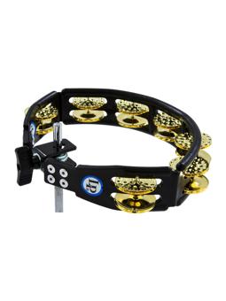 Lp LP179 - Cyclops Mountable Tambourine, Dimpled Brass Jingles