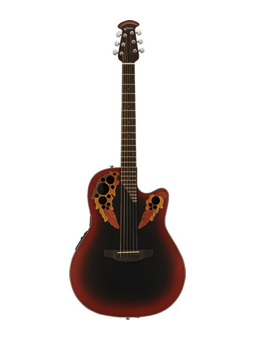Ovation CE44 Celebrity Elite Reverse Red Burst