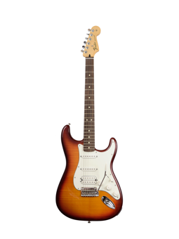 Fender Deluxe Stratocaster HSS Plus Top guitar with IOS Connectivity Tabacco Sunburst