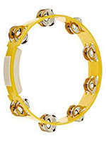 Rhythm Tech TC4050 - Yellow Tambourine, Steel Jingles