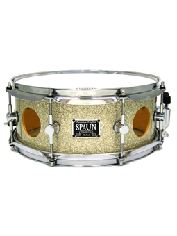 Spaun Drum Co. Vented 6x14 Maple Snare Drum - Silver Glass