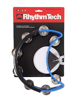 Rhythm Tech DST 40 Drum Set Tambourine-Blue-Nickel Jingles