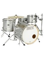 Spaun Drum Co. Custom Series 4pc-Silver Metallic w/Chrome Stripe