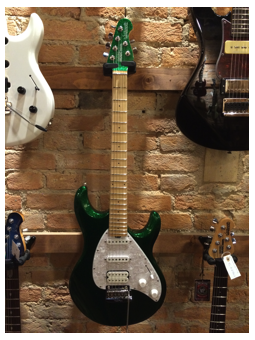 Music Man Silhouette Special  HSS Emerald Green Sparkle