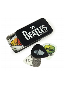 Daddario Beatles Signature Guitar Pick Tins, Logo Medium