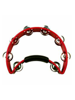 Rhythm Tech RT1030 - Red Tambourine, Steel Jingles