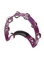 Rhythm Tech RT1080 Tambourine Purple- Nickel Jingles