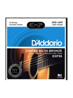 Daddario EXP36 80/20 Bronze, 12-String, Light,