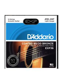 Daddario EXP36 80/20 Bronze, 12-String, Light,