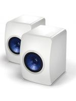 Kef Coppia diffusori Hi Fi Kef LS 50 White Ultimate Mini Monitor da scaffale