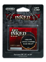 Evans INKCARDB - Custom Bass Head Gift Card