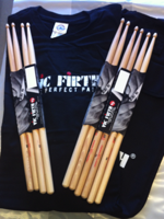 Vic Firth 5ACL + BAG + T-SHIRT MANICA LUNGA TG L