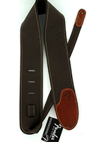 Fender 3'' F Custom HQ Leather Straps Brown