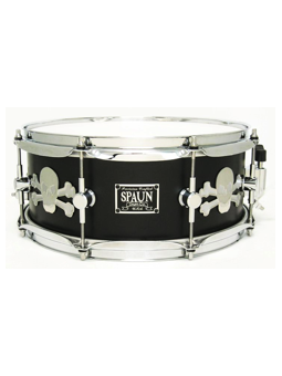 Spaun Drum Co. Maple 5.5x13 Snare Drum - Stainless Skulls