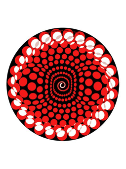 Zomo Slipmat Balls Red