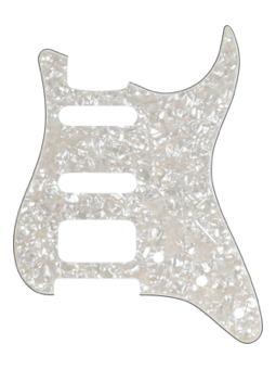 Fender H/S/S Pickguards White Pearl